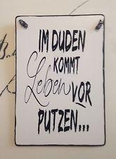 Duden Putzen Schild Tafel Wandschild Deko Shabby Vintage In 2020