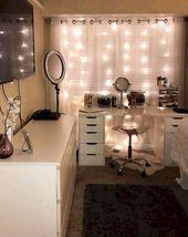45+ einfache und schöne Teen Zimmer Dekor Ideen für Mädchen