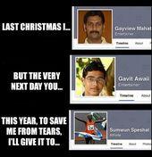 Letztes Weihnachten mit Facebook Namen   – memes