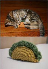 25 lustige und einfache Häkelanleitungen für Ihre Katze   – Stricken und Häkeln
