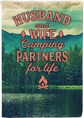 Man och hustru Campingpartners för livet
