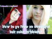 Wie man von einer unnatürlichen Haarfarbe zu Blond wechselt (Vitamin C-Methode) YouTube – # …   – Haare Farben