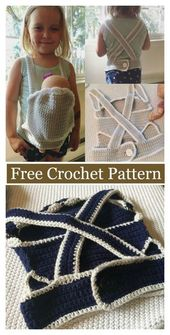 Baby Carrier Baby Doll Carrier Free Crochet Pattern #freecrochetpatterns #toy