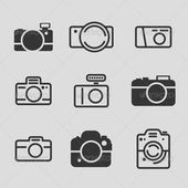 Modern Camera Icons  #GraphicRiver         Modern Icon Set – collection of camera icons. Vector illustration.  	 Each icon is on it's own layer fo…