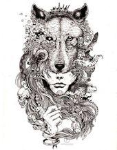 wolf wandbild kerby rosanes doodle ausmalbilder ausmalbilder für erwachsene … – wolf wandbild kerby rosanes doodle ausmalbilder ausmalbilder für erwachsene …