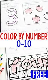 Color By Number Printable Set For 0-10  – Math Activities for Kids – #activities…
