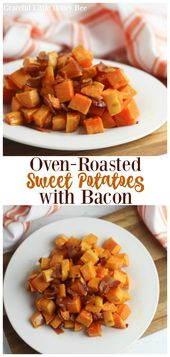 Oven-Roasted Sweet Potatoes with Bacon   – Favorite Fall Recipes