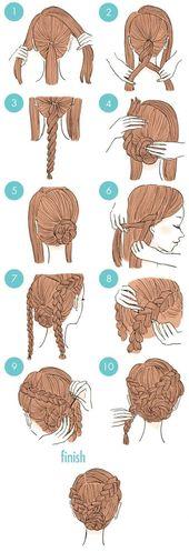 20 süße Frisuren, die extrem einfach zu tun sind – Frisuren Modelle#die #einfa…