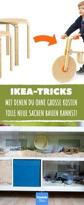 10 geniale Ikea-Tricks, mit denen Sie großartige neue Möbel ohne große Kosten bauen können!   – Ikea hacks