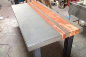 Beton Holz & Stahl Esstisch Küchentisch