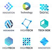 Set of tech vector design elements. Electronics and technology icons….