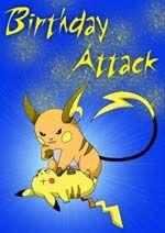 Free Printable Pokemon Birthday Cards With Images Birthday