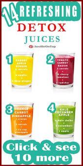 14 erfrischende Detox-Saft-Rezepte (INFOGRAPHIC)   – Detox diets