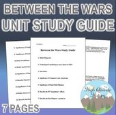 Between the Wars Unit Research Information