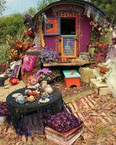 Diverse décor bohemian hippie scheme with peacock…