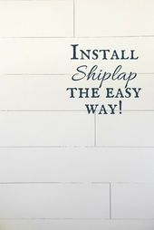 Installing Shiplap in the Entryway