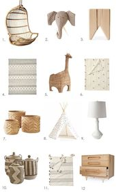 Idea and Inspiration Summer Look Trend 2017 Image Description A NATURAL LOOK FOR NURSERIES & KIDS ROOMS