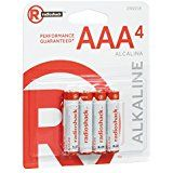 Radioshack Aaa Alkaline Batteries 4 Pack Alkaline Battery Alkaline Aaa