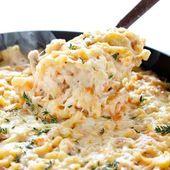 Französische Zwiebel Hühnchen Makkaroni und Käse   Ich bin Bäcker