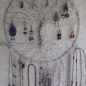 Schmuckhalter, Ohrring Baum mit Halskette Haken, Schmuck Organizer, Baum des Leb…