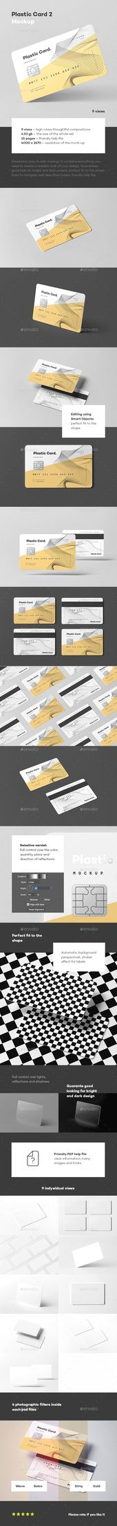Plastic Card Mock-up 2 – Envato Market #mockup #psd #ProductMockup #BusinessCard…