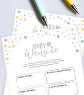 Baby Cards Schicken Sie dem kleinen Bauchbewohner ein paar liebevolle Wünsche mit auf den ...