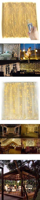 20 Ft. LED Vorhang Eiszapfen Lichter mit Fernbedienung & Timer 600-LED Fairy Twinkle Strin …   – Backdrops for parties