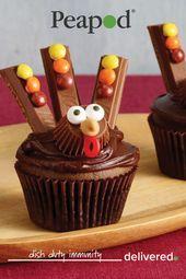 Kit Kat Turkey Cupcakes