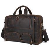 Handmade Superior Leather Briefcase / Messenger Ba…