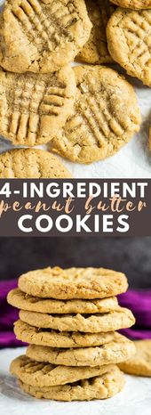 4 Ingredient Peanut Butter Cookies– Deliciously …