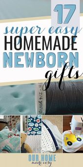 Baby Ilustration These easy homemade baby gifts are perfect for any new mom! You can DIY baby sho...