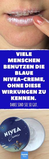 Viele Menschen benutzen die blaue Nivea-Creme, ohne diese Wirkungen zu kennen. D – Beliebte Welt
