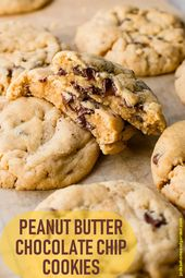 Peanut Butter Chocolate Chip Cookies- Pretty Simple Recipe