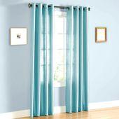2 Faux Silk Drape Grommet Window Curtains Light Blue 52″ x 84″