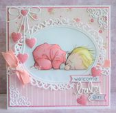 Baby Cards I didn't need this Baby Girl card using Mo's Hush image , I'm not di...