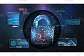 Cyber security concept. Personal  Custom-Designed Illustrations