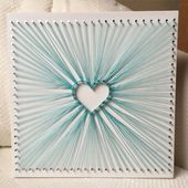 Custom Heart Burst String Art, Love Wall Art, Home Decor, Valentine's Day, Christmas gift, Christmas Present, Mothers Day, Unique