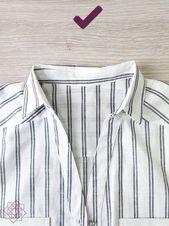 Cómo coser un cuello camisero en 8 pasos