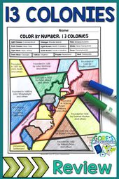 13 Colonies Exercise