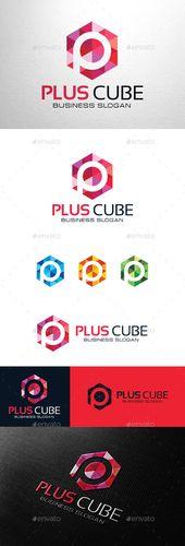 Plus Cube Letter P – Logo Design Template Vector #logotype Descárguelo aquí: gra …   – Rebrand – Pillar to Post
