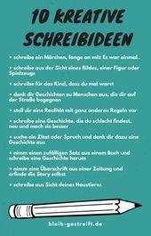 10 kreative Schreibideen
