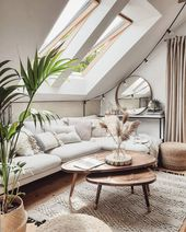 Setting up a room with sloping ceilings: Tips & Ideas