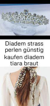 Diadem Strass Perlen Diadem Tiara Braut Diadem Hochzeit Diadem Strass Silber Diadem 5   – Haare