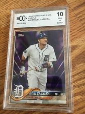 Sponsored 2008 Topps Toys R Us Purple Miguel Cabrera 90 Graded 10 Mint In 2020 Miguel Cabrera Cabrera Toys R Us