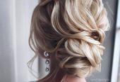 37 Inspirierende Prom Updos für langes Haar für 2019 #inspo - Homecoming Updo Frisuren für mittlere ...