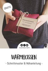 Sewing instructions: Heat pad with rice filling (including printable)  – DIY Geschenke selber machen