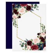 Brilliant Bloom | Rustic Boho Floral Wedding Card