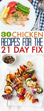 21 Day Fix Chicken Recipes – 30 Recipes with Container Counts