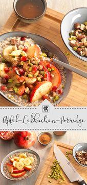 Apfel-Lebkuchenbrei: Ein warmer Brei zum Frühstück bringt auch …   – ••• ZWILLING Rezepte  •••