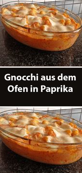 Gnocchi from the oven in paprika  – Einfache Rezepte